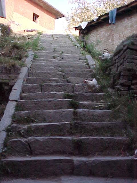 Stairwell in alleyway (Nepal, The Travel Addicts)
