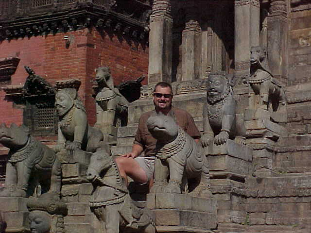 Gargoyle like merlons on the stairs (Nepal, The Travel Addicts)