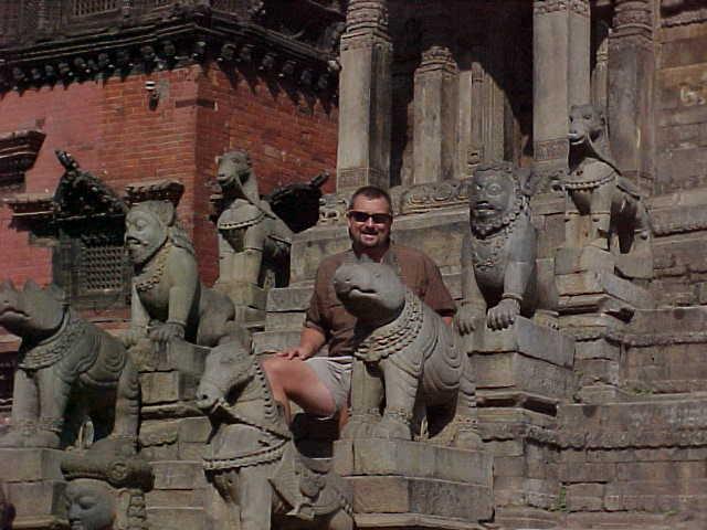 Gargoyle like merlons on the stairs (Nepal, The Travel Addicts)