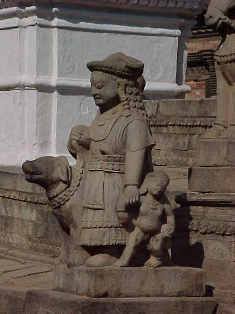 Sculpture in Durbar Square (Nepal, The Travel Addicts)