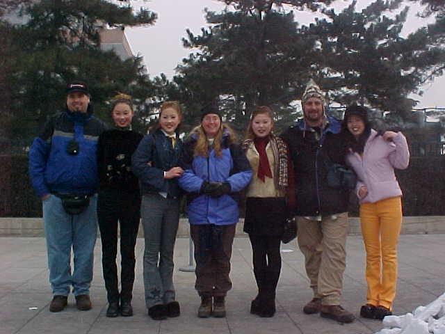 "MVC-176S-More locals.  ""Dave Crane"", , , SaraGrace Keenan ""SGK"", , Michael Alessio ""MRA"", and . , Taivaallisen rauhan aukio, Beijing, Beijing Shi, China (Tiananmen Square, 北京, 北京市, 中国) (The Travel Addicts, China)"