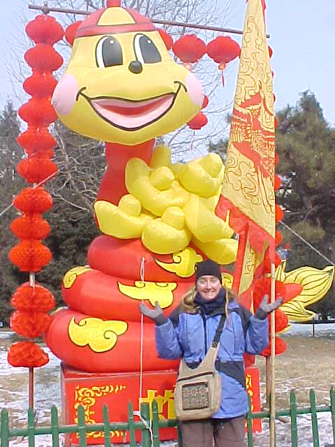 MVC-184S-Giant, inflatable snake in honour of the year. SaraGrace Keenan. , Beijing, Beijing Shi, China (北京, 北京市, 中国) (The Travel Addicts, China)