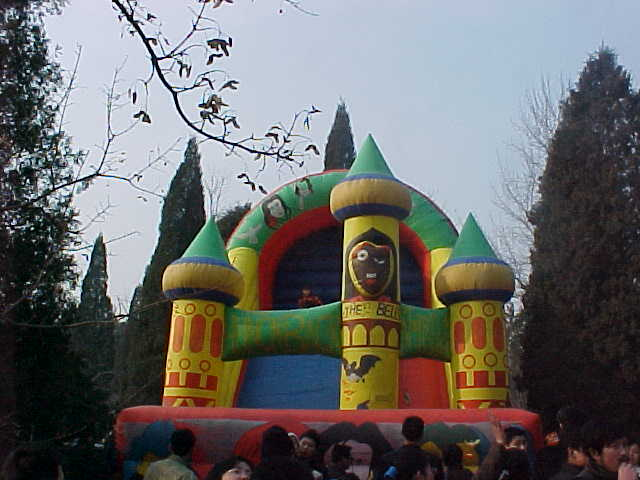 MVC-198S-Inflatible castle. , and . , Beijing, Beijing Shi, China (北京, 北京市, 中国): Just goes to show that colourful, bouncing adventures is cross-cultural (The Travel Addicts, China)
